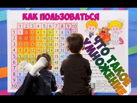 Как ПОЛЬЗОВАТЬСЯ таблицей умножения и что такое умножение