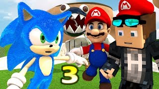SUPER MARIO 64 vs. MINECRAFT CHALLENGE 3! Ft. NEW Sonic! (official) Minecraft Animation Game