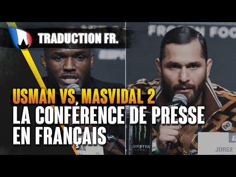 """UFC 261 Usman vs. Jorge Masvidal 2 - Conférence de Presse en FRANÇAIS """"te casser plus d'os"""""""