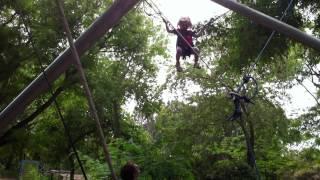 Первый раз на прыгалке