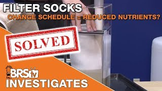 Is your filter sock changing schedule helping to reduce nutrients? | BRStv Investigates