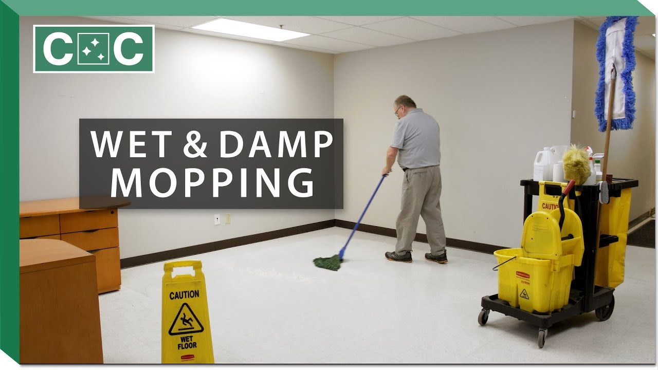 How To Damp Wet Mop A Floor Clean Care You