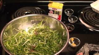 파무침(pa Mu Chim) Korean Bbq Scallions/green Onions Salad.mov