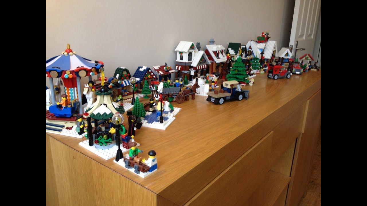 Lego Winter Village Theme Scene Collection Youtube