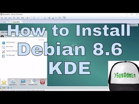 How to Install Debian 8.6 KDE 4 Desktop & Short Review on VMware Workstation/Player Tutorial [HD]