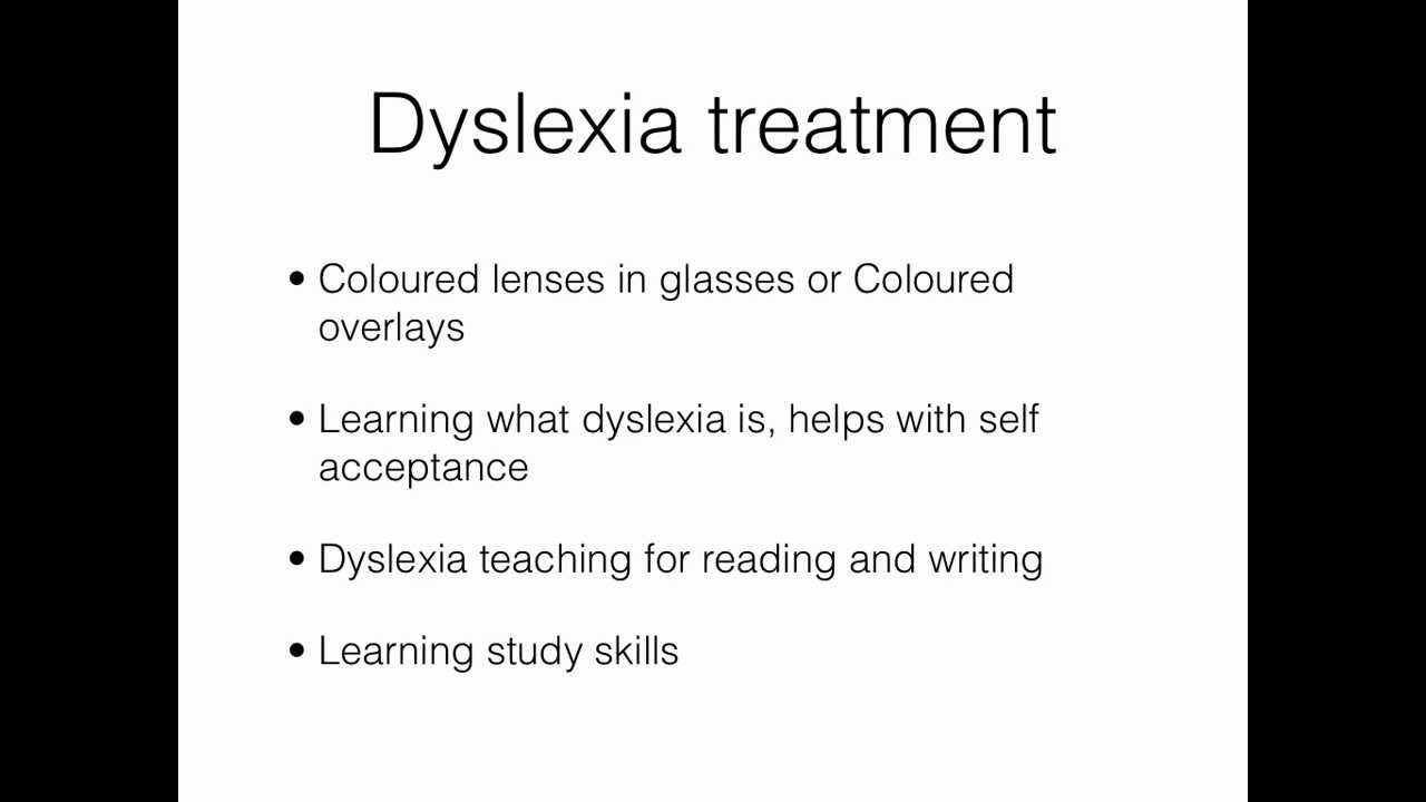 dyslexia treatment youtube