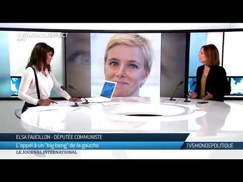 TV5monde Politique: Elsa Faucillon Appelle à Un Big Bang De La Gauche