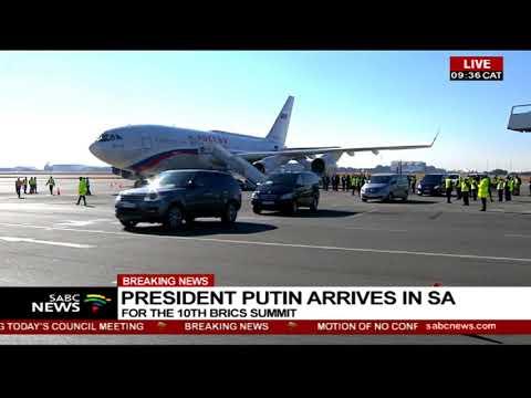 Russian President Vladimir Putin touches down in SA