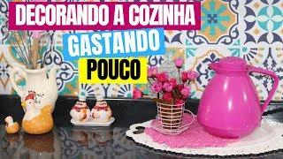 DECORANDO A COZINHA GASTANDO POUCO – Aplicando  ADESIVO DECORATIVO Estilo Português