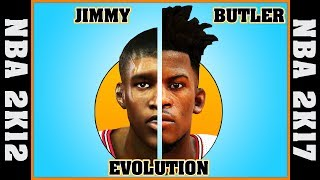 JIMMY BUTLER evolution [NBA 2K12 - NBA 2K17] 🏀