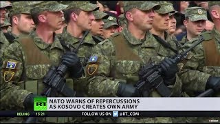 US supports Kosovo's creation of army, NATO warns of repercussions