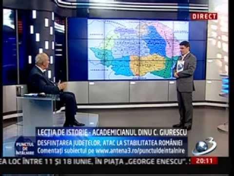 Regionalizarea poate duce la sfarsitul Romaniei. Profesorul Dinu Giurescu si Radu Tudor