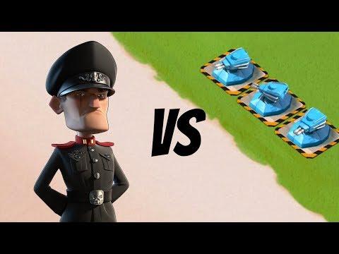 Boom Beach 3 MAX SHOCK BLASTERS vs Defending Hammerman!!
