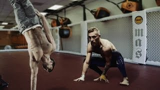 Ido Portal giving lessons to Conor McGregor