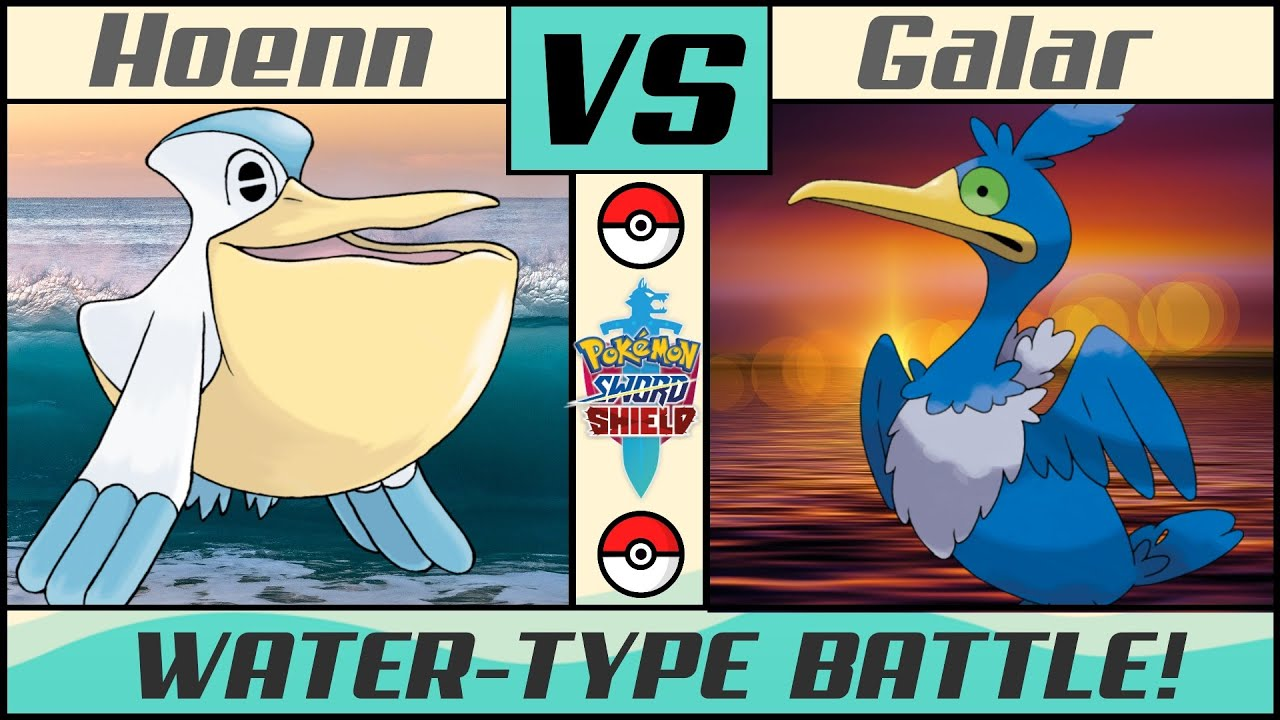 Water Pokémon Battle: HOENN vs GALAR (Pokémon Sword/Shield)