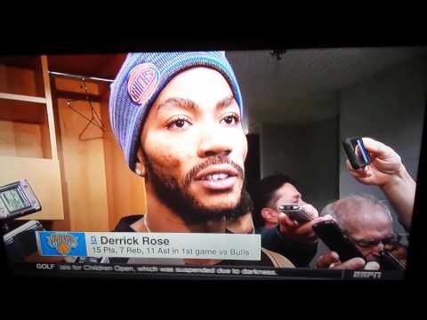 Derrick Rose returns to Chicago as Knicks win (Highlights )