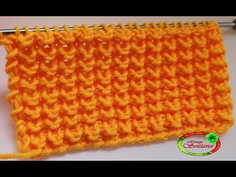 №76 Узор спицами Кукурузка, Ежики  Knitting Pattern