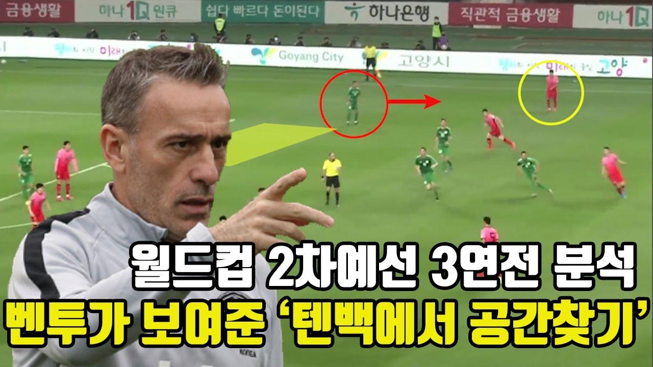 한국 대표팀은 밀집수비를 어떻게 뚫어냈을까?