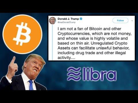 PRESIDENT TRUMP TWEETS ABOUT BITCOIN & FACEBOOK LIBRA! - Ripple CEO FCA Ethereum & XRP - Fold BTC LN