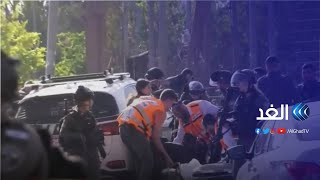 شاهد   عملية دهس لمجموعة من الشرطة الإسرائيليين في حي الشيخ جراح