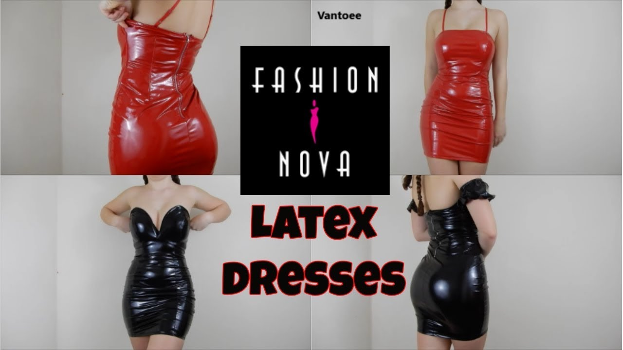 17517c1dd54 Fashionnova Latex Dress Review and Try On Haul - YouTube