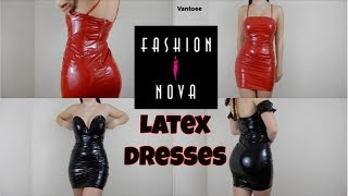 Fashionnova Latex Dress Review and Try On Haul