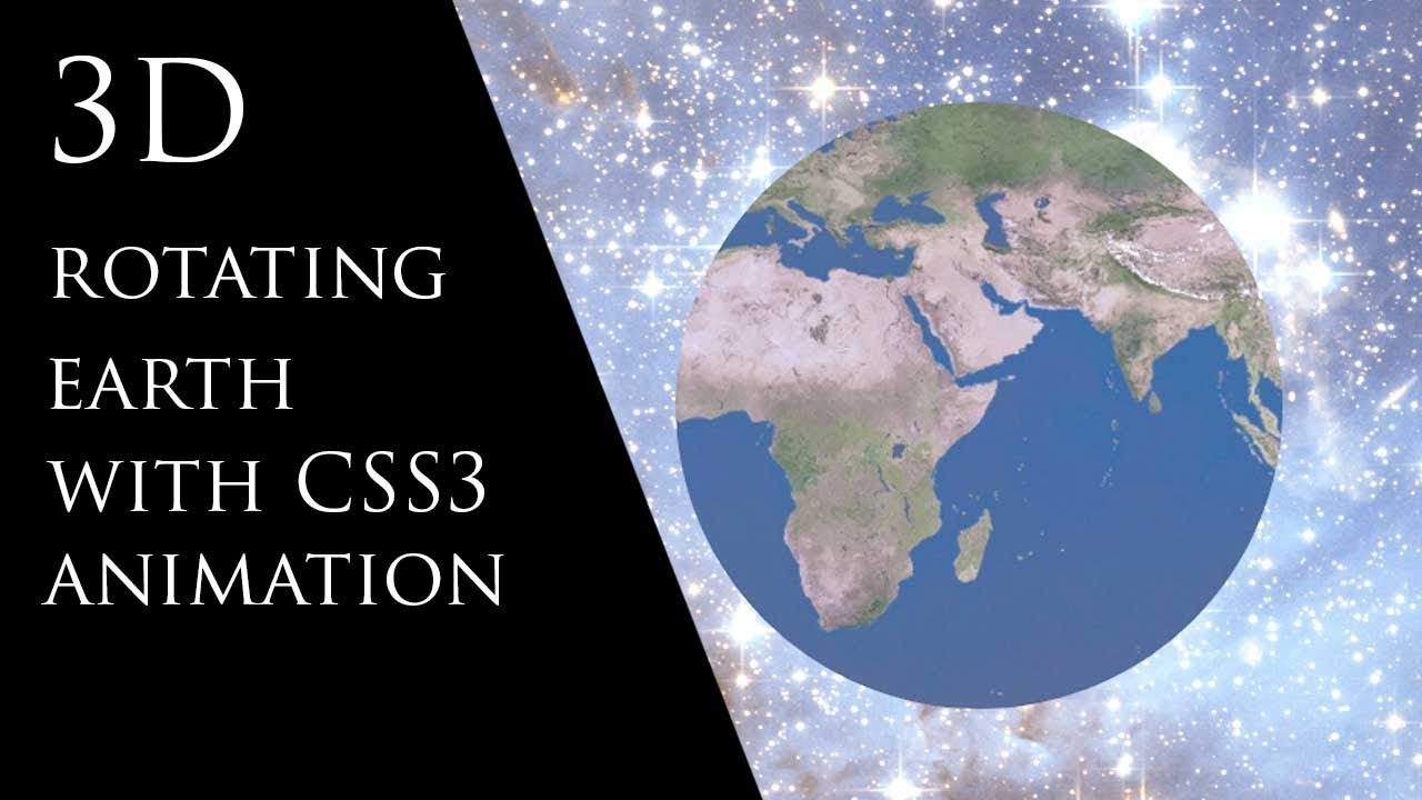 3D Rotating Earth with CSS3 Animation