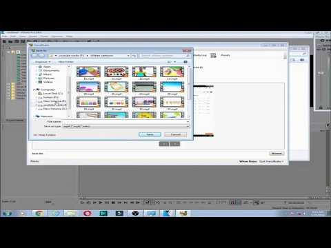 How To Open Any Video File (.MKV .MOV .AVI .FLV. MP4. TMP) in Sony Vegas Pro
