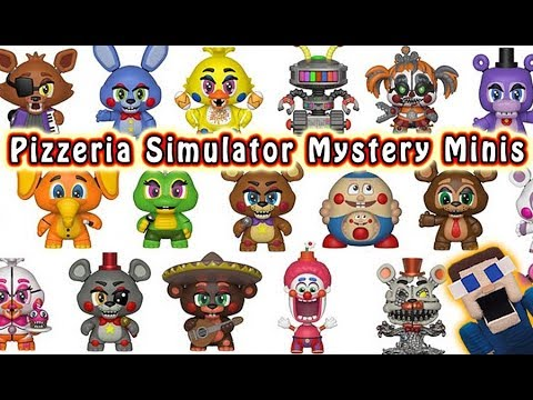 Fnaf Pizzeria Simulator Funko Mystery Minis Reveal Five