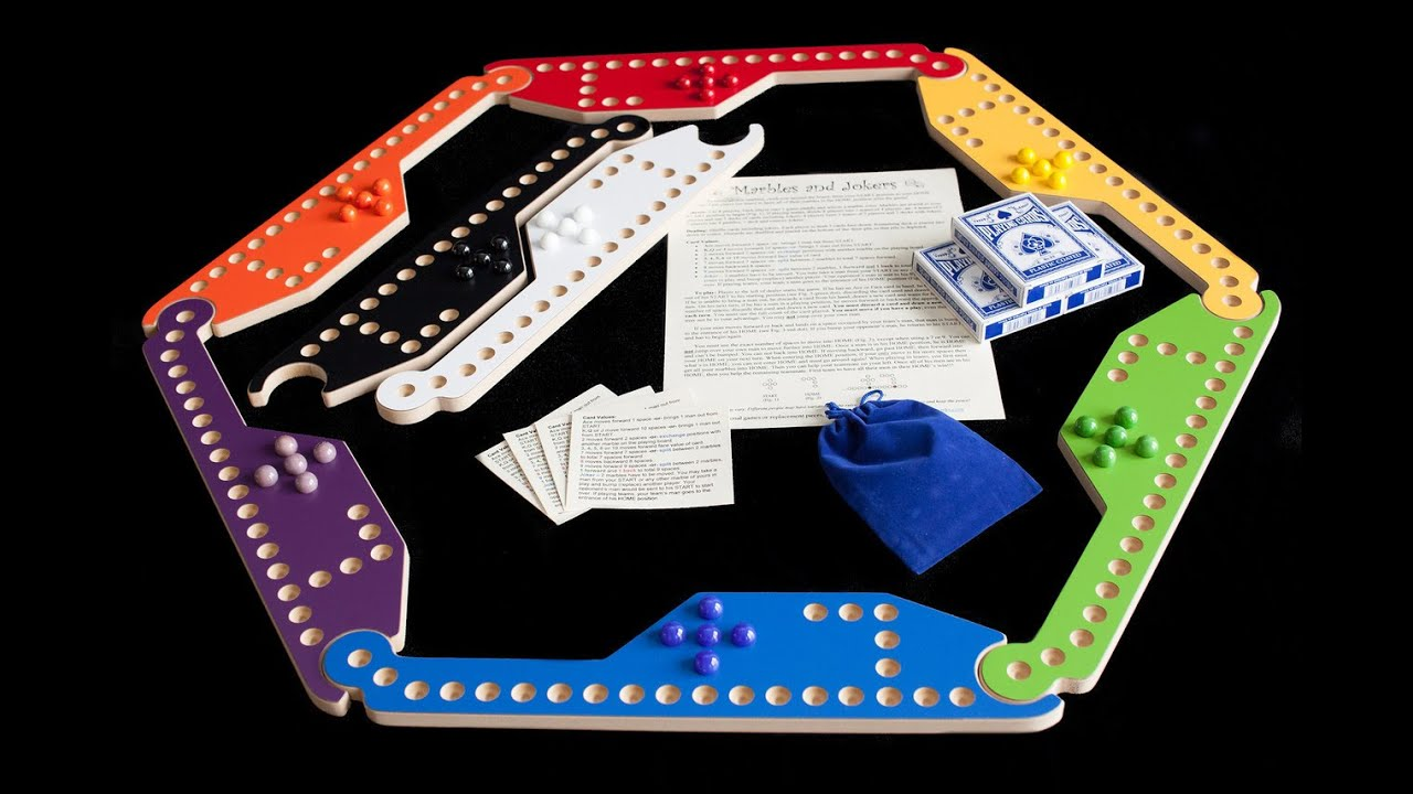Marbles And Jokers 8 Player Game By Wizard Woodworks Youtube