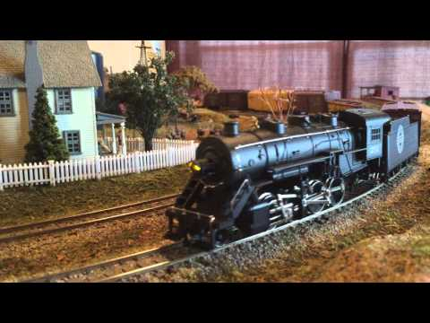 Chicago Great Western 2-8-0 Steam Locomotive With Freight Train