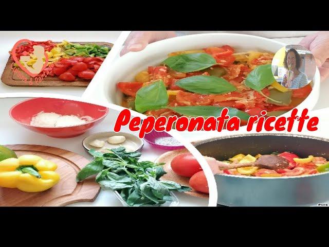 Peperonata - Ratatouille De Légumes Colorés étape par étape