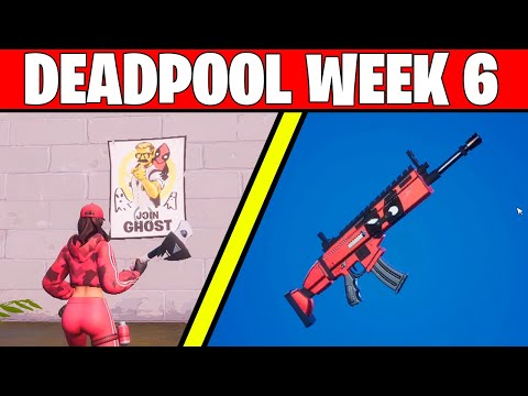 Deface GHOST Or SHADOW POSTERS : BEST LOCATIONS (FORTNITE DEADPOOL SKIN CHALLENGES WEEK 6)