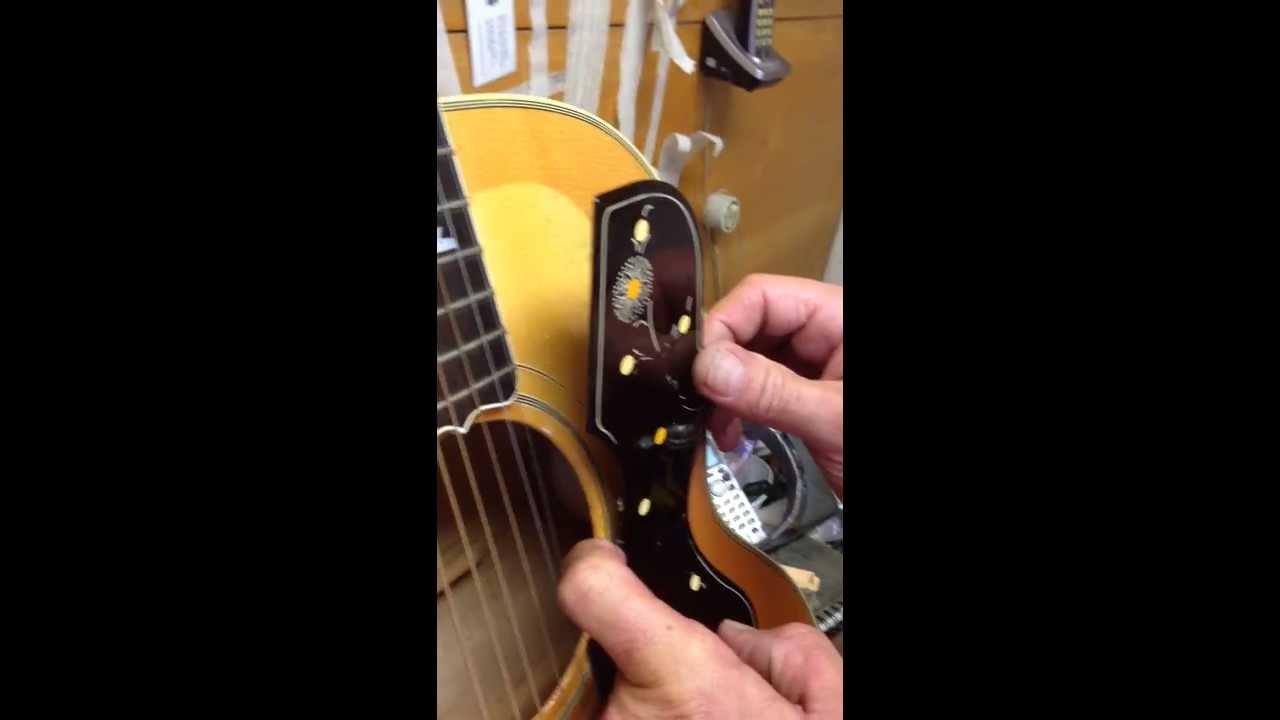 Removing Pickguard Gibson SJ-200 True Vintage