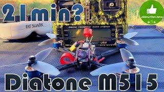 ✔ Квадрокоптер Долголет Diatone GT M515 - 21min Flight Time Test!