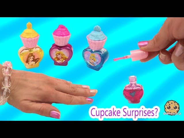 Disney Princess Sweet Surprises Cupcake Nail Polish + Sticker Kit Unboxing  with Cookieswirlc