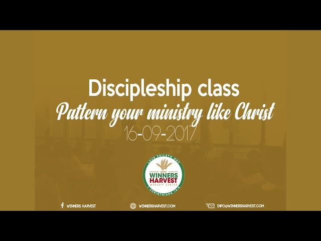 Pattern your ministry like Christ 16-09-2017