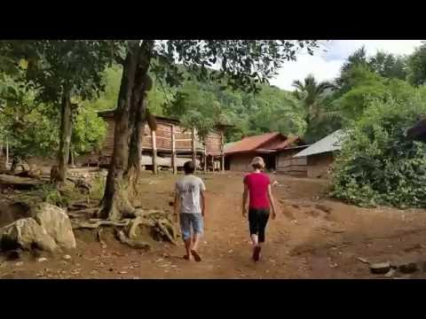 Morning walk to store in Long Ngeth (Hmong Village in Laos)