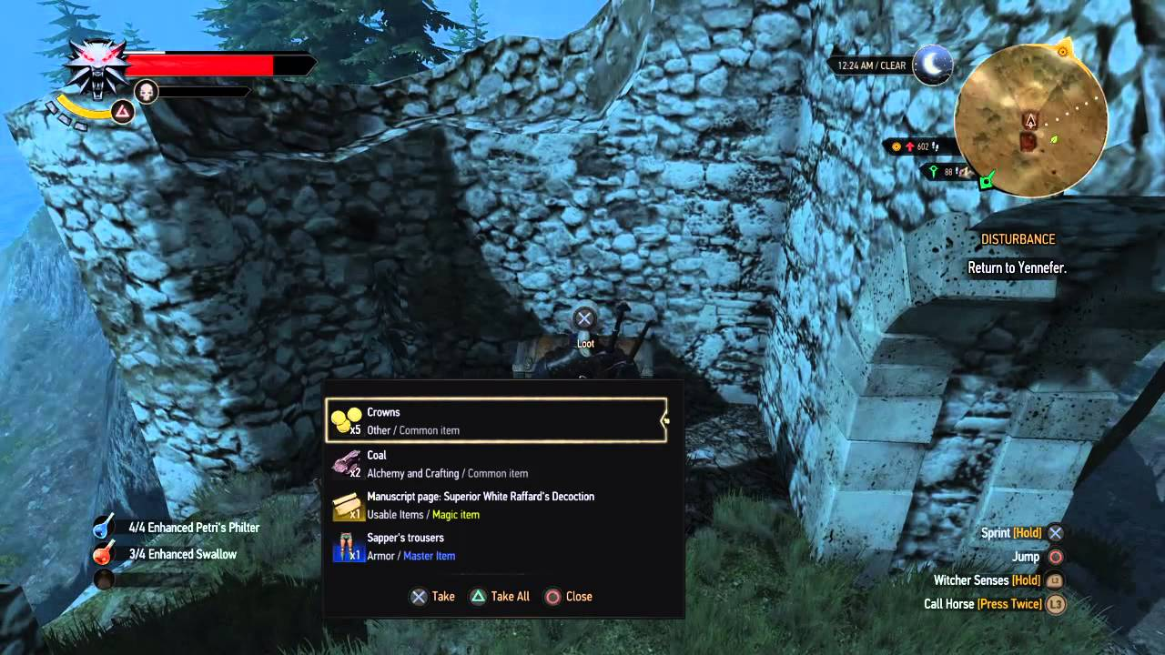 The Witcher 3: Enhanced white raffards decoction location