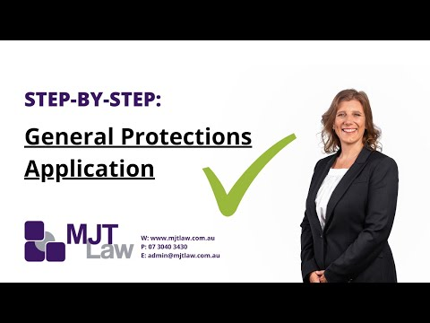 How to fill in a general protections application - MJT Law tutorial session
