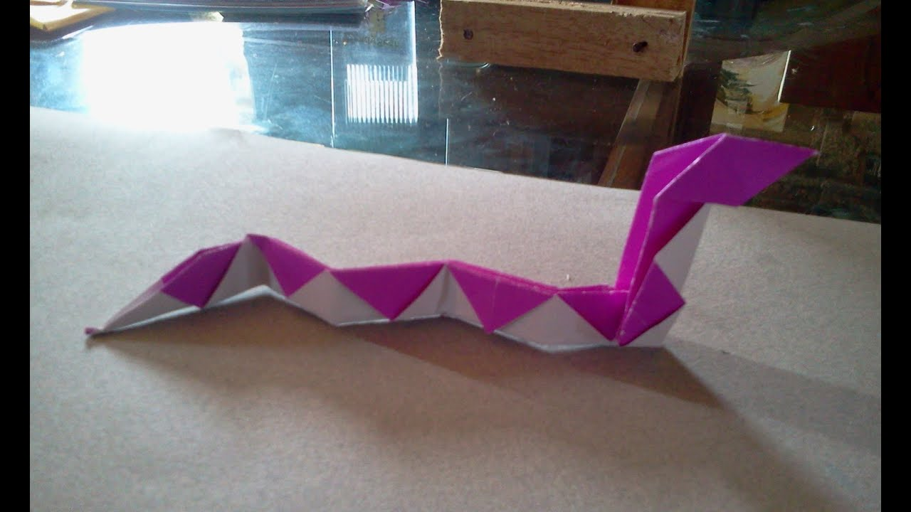 How to make an origami Snake - YouTube - photo#8