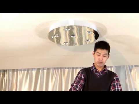 Modern Crystal Chandeliers Ceiling Lamp Lighting  Cyrstal Chandeliers Installation