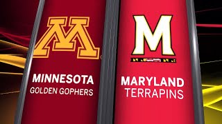 Big Ten Basketball Highlights: Minnesota at Maryland