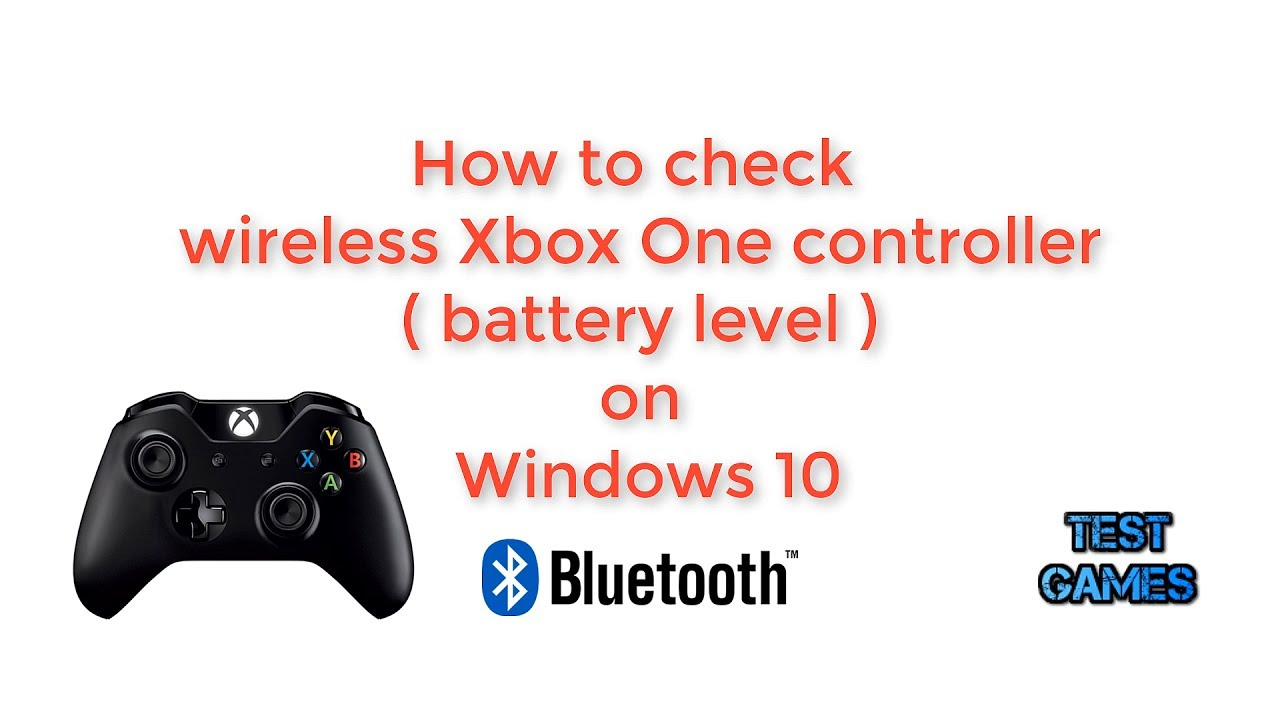 How To Check (Battery Level) Xbox One Controller on PC - Wireless