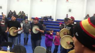Harvey Dreaver at Rocky Boy Memorial Round Dance Nov 2014