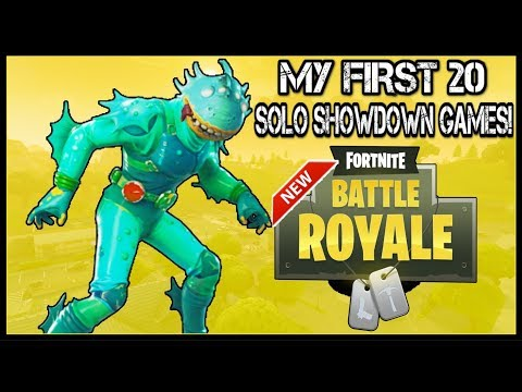 Fortnite: 'Solo Showdown' | MY FIRST 20 GAMES! (How Did I Do?)