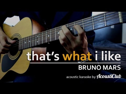 That's What I Like - Bruno Mars [Acoustic Guitar Karaoke] short