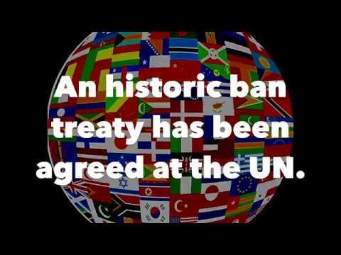UN adopts 'historic' nuclear ban treaty