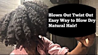 The Twist Out | Easy Way to Blow Dry 4C Hair!