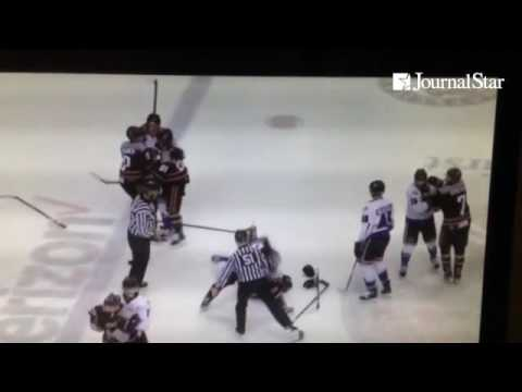 VIDEO: Knox D-man Jason Price Alleged To Deliberately Fire Puck Into Huntsville Bench, Striking Trai